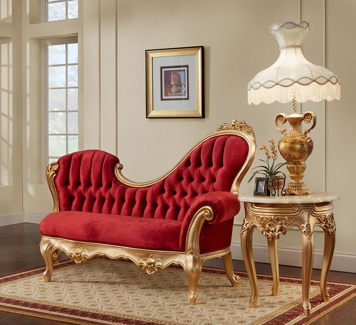 657 Arj Polrey French Provincial Style Left Chaise Lounge Chair