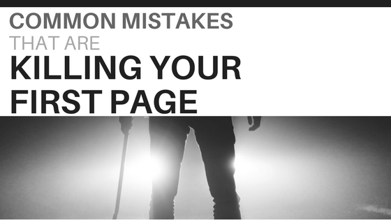 Most Common First Page Mistakes