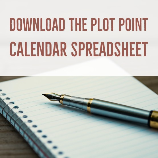 plot point calendar spreadsheet
