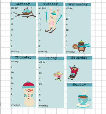 Stickers- Free planner for bloggers