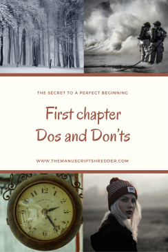First Chapter dos and donts-www.themanuscriptshredder.com