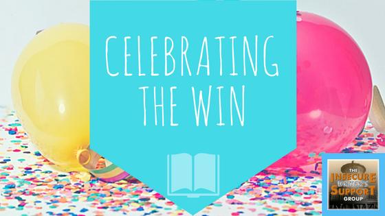 Celebrating the win IWSG-www.themanuscriptshredder.com