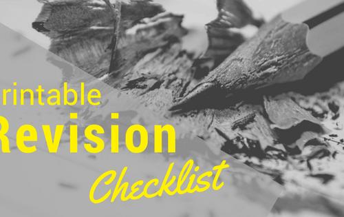 Printable revision checklist-www.themauscriptshredder.com