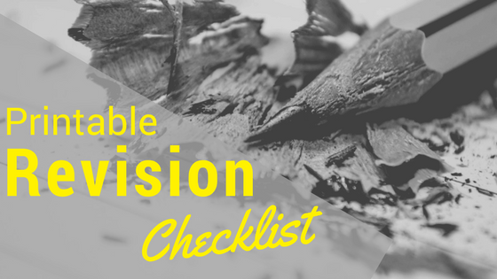 Revision Checklist Printable