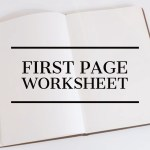 First page worksheet