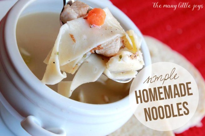 Simple, Yummy Homemade Noodles. These totally transform chicken noodle soup into something completely delectable.