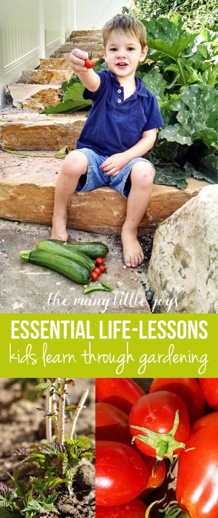 Gardening with kids is certainly an adventure, but it's so worth it to let them be a part of the experience of growing a garden. Here are 5 essential life lessons you'll teach by gardening with kids.