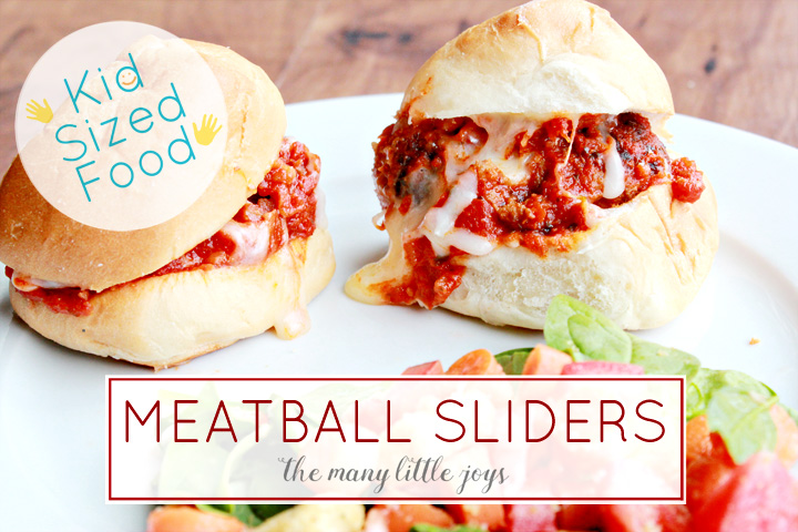 This twist on a classic meatball sandwich is perfectly kid-sized and fun for everyone. Plus, it comes together SUPER fast for a great weeknight dinner.