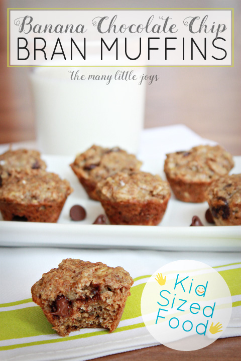 Mini Banana Chocolate Chip Bran Muffins 4 copy
