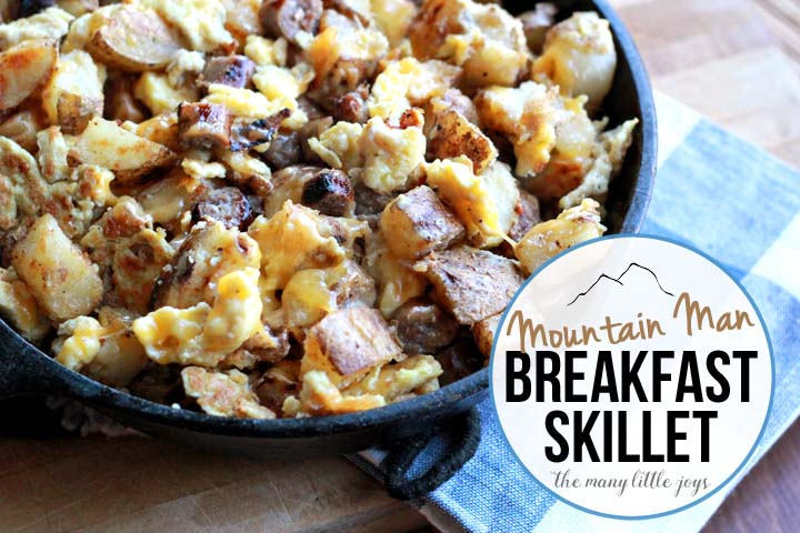 This super-hearty breakfast is filled with potatoes, eggs, sausage, cheese, and my favorite seasoning in the world. It comes together in under 30 minutes and is a great way to start the day....or to finish the day by making it breakfast for dinner.