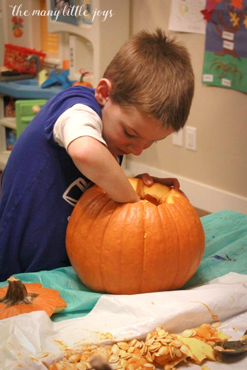 many-little-joys-of-october-carving-pumpkins