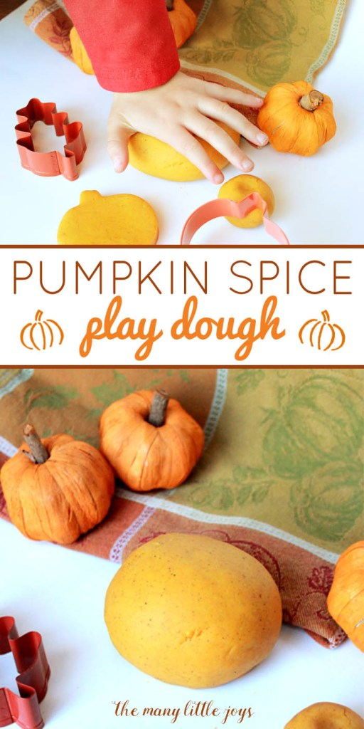 Want to add a little spice to preschool play time? Try making this super easy pumpkin spice play dough recipe with your kids. It's a perfect fall activity and will leave your hands smelling wonderful!