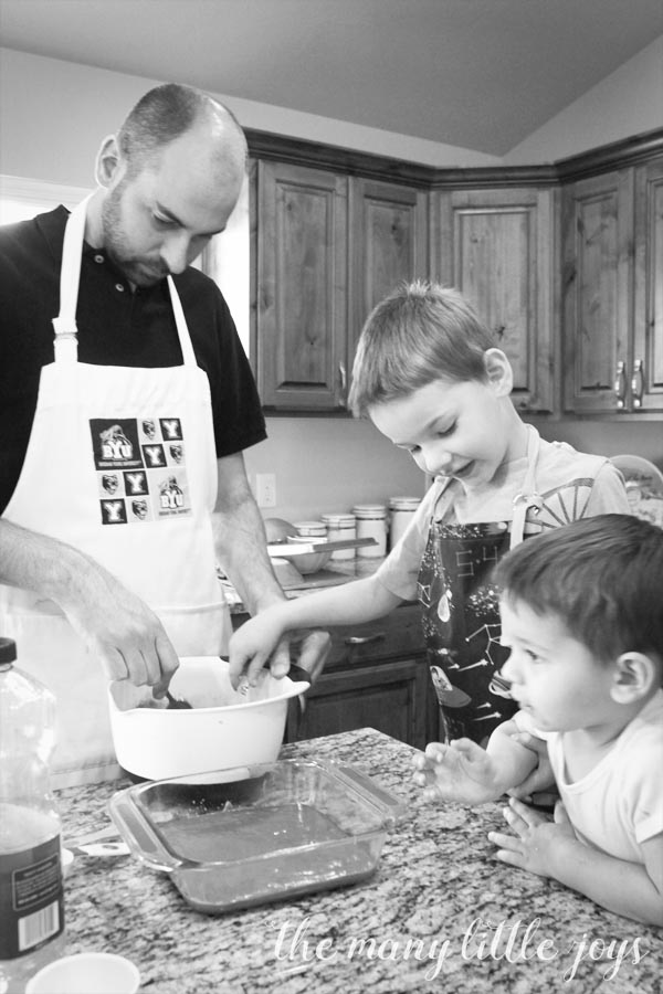 Even though it is often messy, letting kids help in the kitchen is a great way to involve them in real-life learning without spending a lot of extra time or money.
