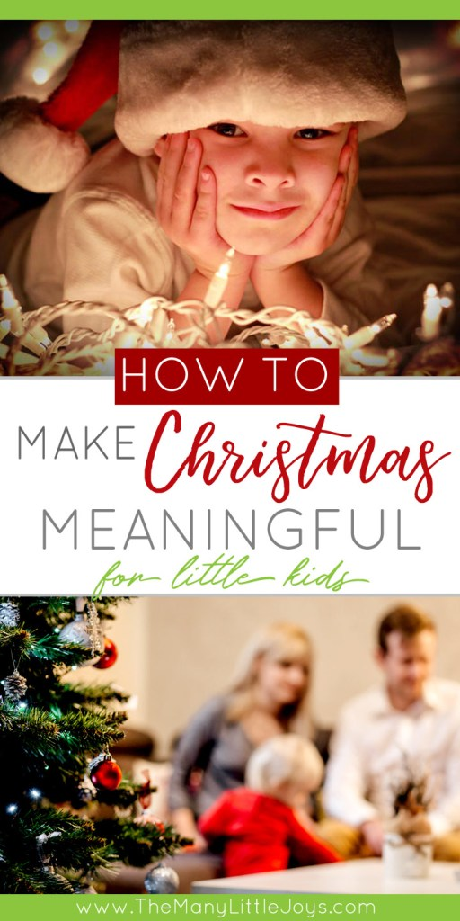 Presents are an exciting part of Christmas--especially for little kids--but if you're looking to make Christmas a little bit more for your family, here are some ideas to set the tone for a more Christ-centered holiday.