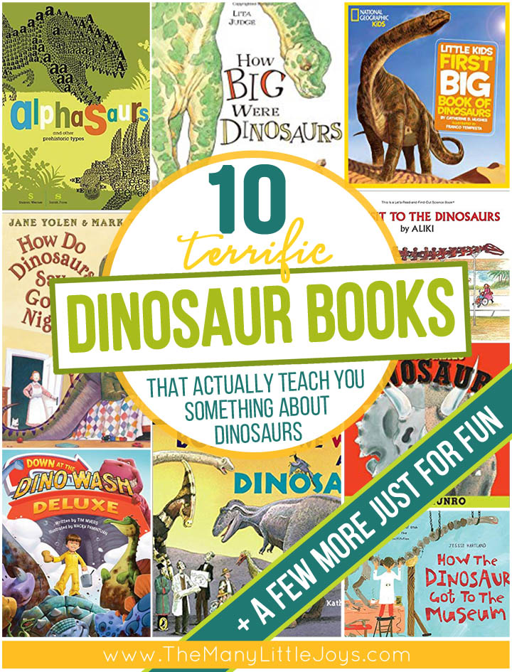 Dinosaur books abound, but few of them actually teach kids many facts about the giant lizards they love so much. These ten terrific dinosaur books are the best of the best--engaging and educational--absolute must-reads for the dino-lover in your home.