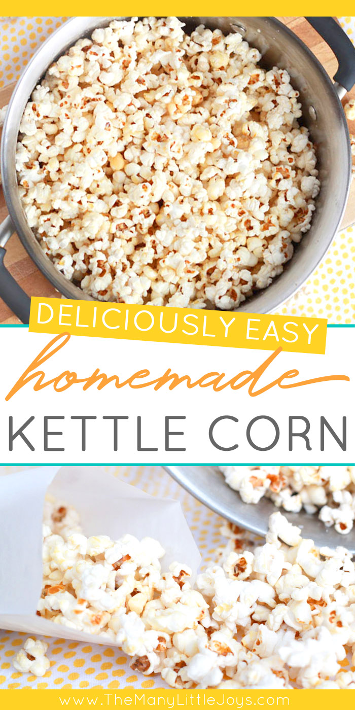 There are few treats I like more than the simplicity of old-fashioned kettle corn. And making it at home is easier than you might think--with just a few ingredients and five minutes of cooking, movie night just got so much better!