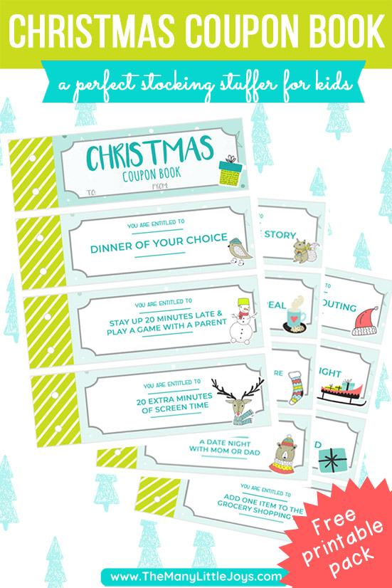 This Christmas coupon book is an inexpensive and simple stocking stuffer for kids. Just print, cut, and you're on your merry way!