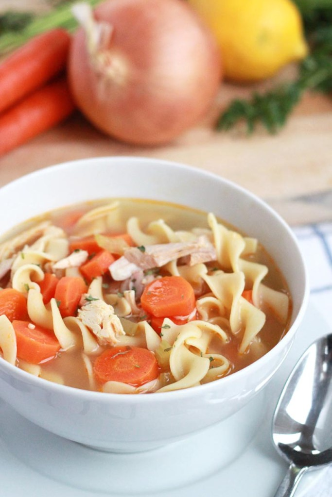This soothing chicken noodle soup is a must-try recipe. Beyond being the ultimate comfort food, it boasts a few powerhouse ingredients that will give your immune system a boost to beat the wintertime germs.