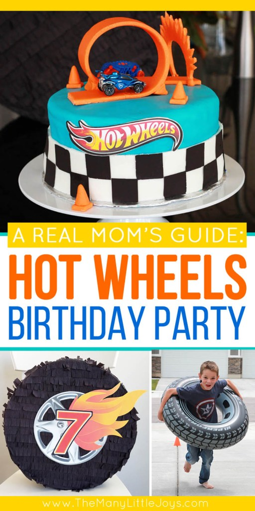 This guide will give you everything you need to know to throw an awesome–and totally doable–Hot Wheels birthday party. Simple ideas that give you maximum bang for your buck to create a party your little racer will love!
