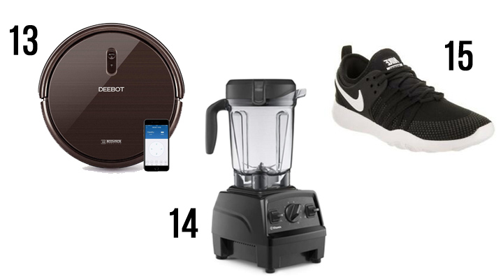 These are a few of my favorite things! This gift guide is filled with happy treasures for any budget that would make great Christmas gifts or a fabulous treat for yourself! Splurge items: Deebot robot vacuum, Vitamix blender, Nike running shoes