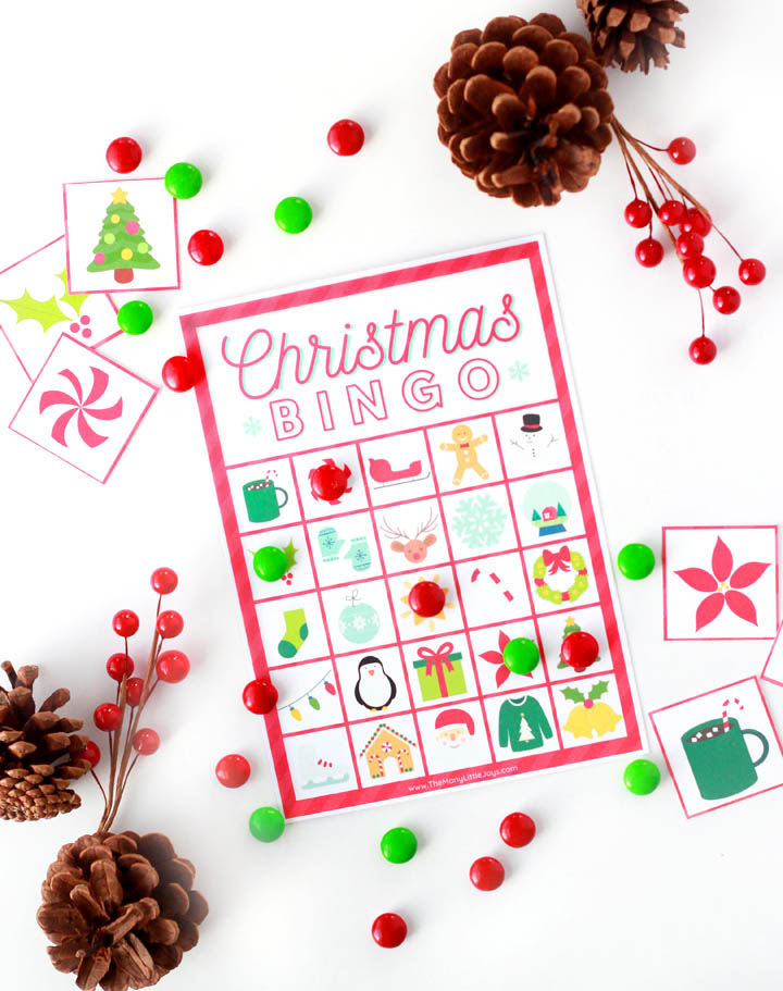 This classic Christmas bingo game is a simple way to entertain kids at holiday parties or for a fun family game night. Just print, cut, and play!