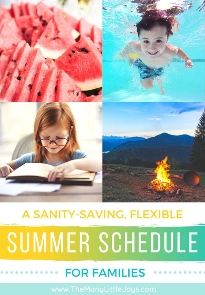 Summer break is the time for lazy days, big adventures, and making lots of memories. Still, kids thrive on structure (and so do I). Having a flexible summer schedule for kids is a great way of keeping things balanced.