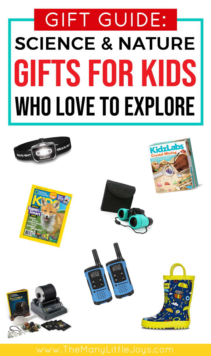 These outdoorsy gifts for kids are both practical and fun--perfect for budding scientists who love to explore the world around them!