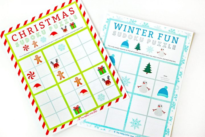 Need a no-prep Christmas activity to entertain your little elves this holiday season? Challenge them to solve one of these free printable Christmas sudoku puzzles for kids!
