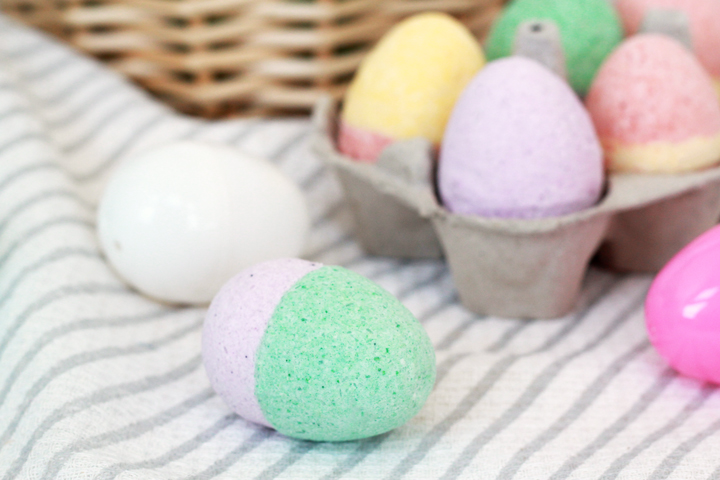 Easter Egg bath bombs STEM craft for kids