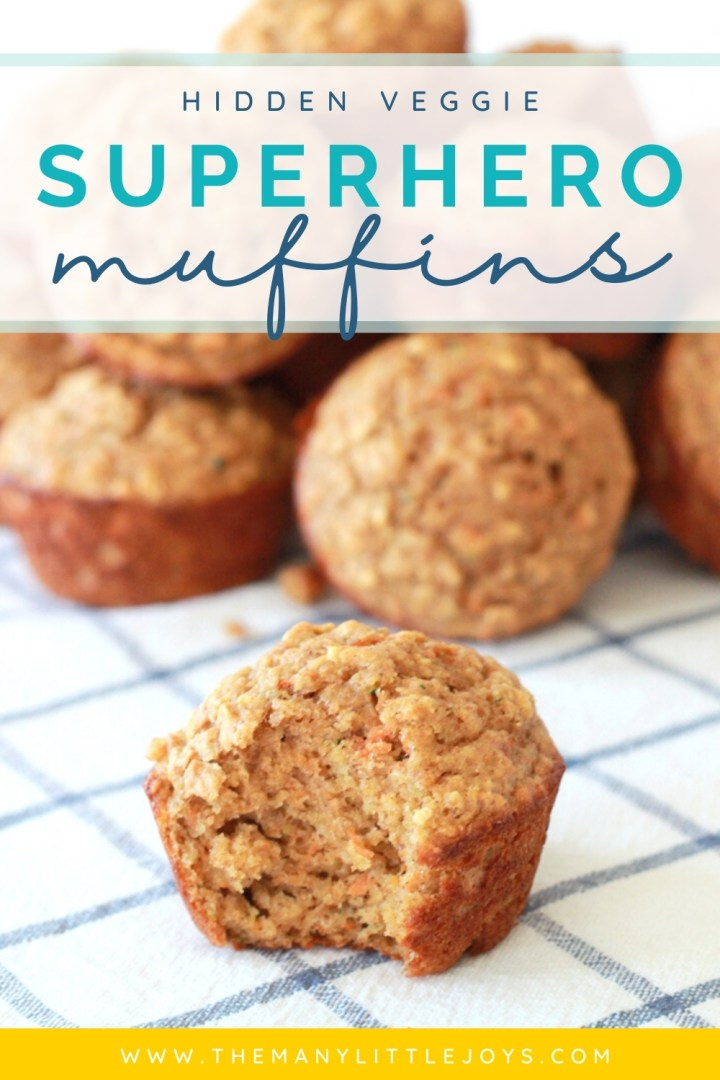 These healthy superhero muffins are packed with veggies and whole grains, and–even better–they taste really, really good. Even picky eaters are sure to love them!