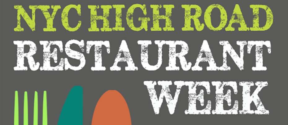 #1417: High Road, NYC High Road Restaurant Week