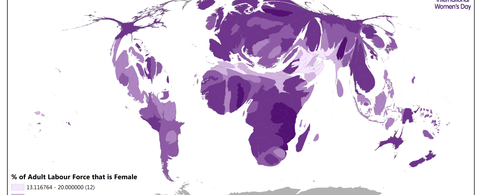 Cartogram of Female Workforce