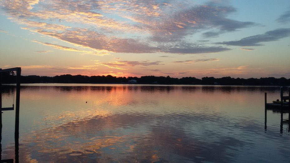 sunrise over the Lafayette river, Norfolk, VA.