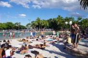The fake beach of Brisbane, Aus