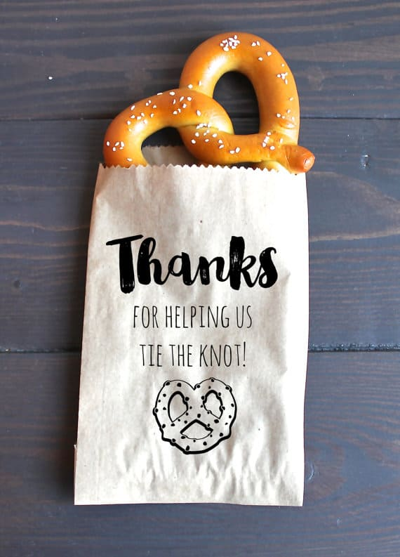 Pretzel Snack Wedding Favors