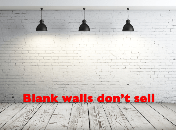 blank walls don't sell...image