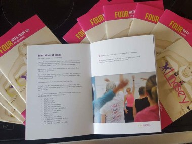 linsey fitness printed a5 brochure