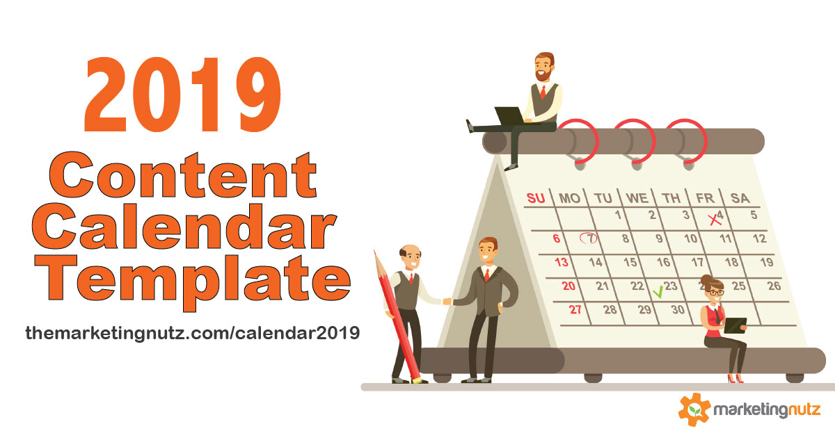 2020 Content Marketing Editorial Calendar Template