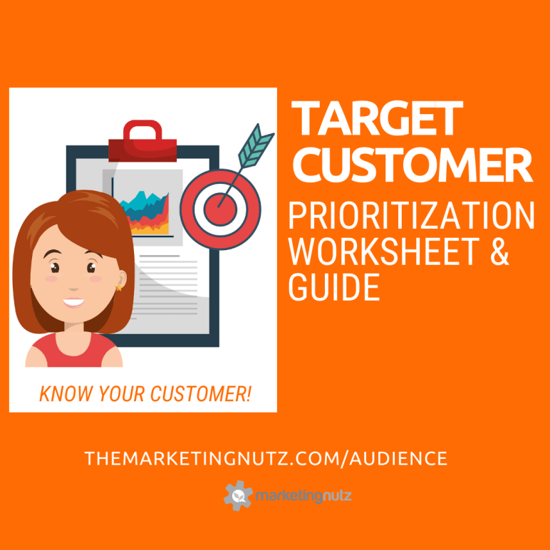 target customer worksheet audience marketing