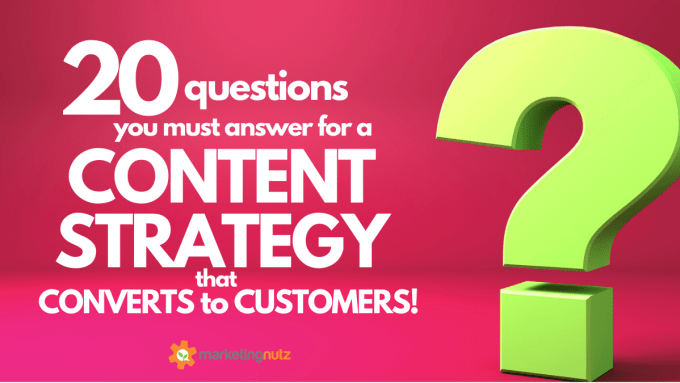 Content Strategy Development - Top 20 Questions You Must Answer