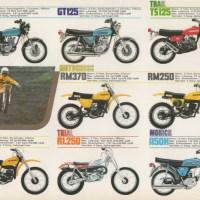 1977 Suzuki range.