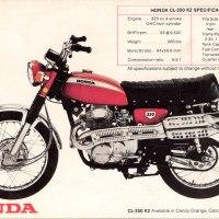 1970 Honda Scrambler 350.