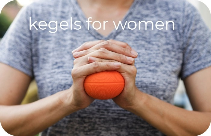 woman squeezing ball