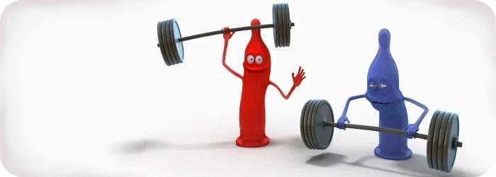 condoms weight lifting