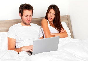 wife upset about porn in bedroom © Martinmark | dreamstime.com