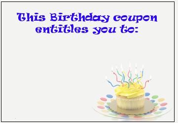 birthday-coupon © Cheryl Davis | Dreamstime.com