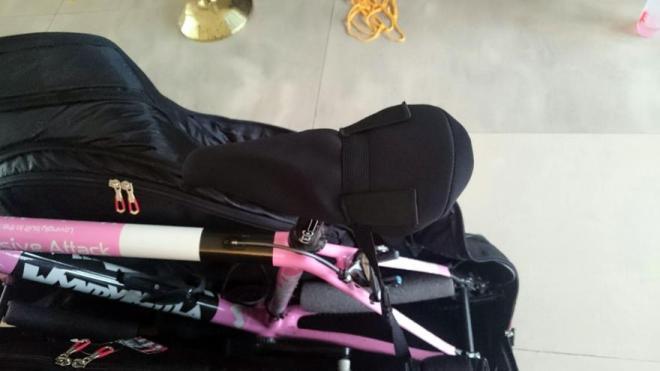 Scicon AeroComfort 2.0 bike bag - saddle strapped