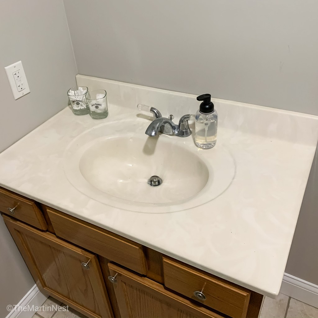 GUest Bathroom Vanity Makeover