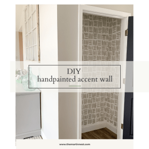 DIY Handpainted Wallpaper