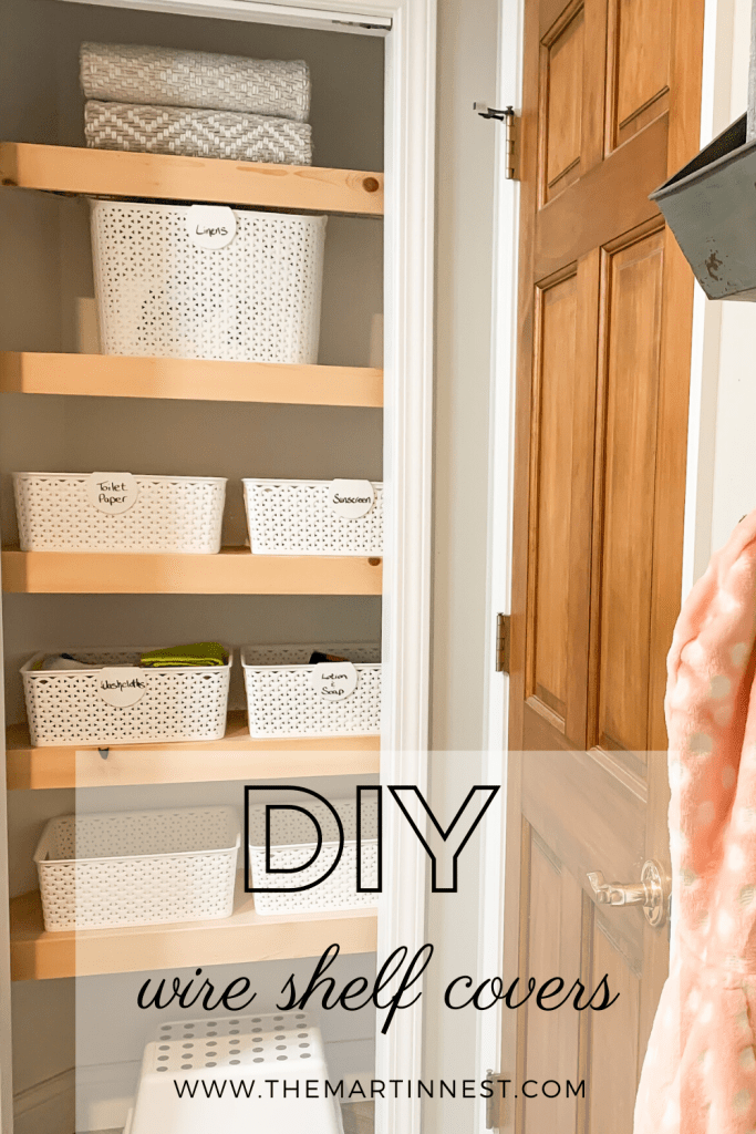 How to cover wire shelves a DIY tutorial